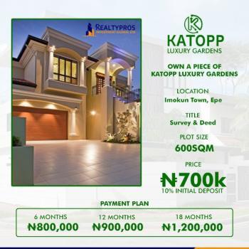 Katopp Luxury Gardens, Epe, Lagos, Residential Land for Sale