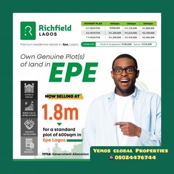 Land, Richfield Scheme 1,epe, Odo Egiri, Epe, Lagos, Mixed-use Land for Sale