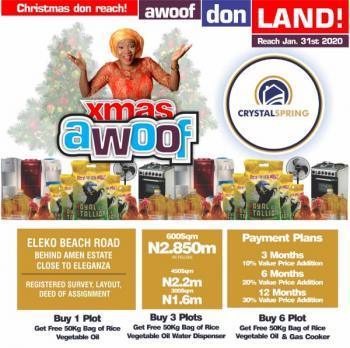 Land for Sale with Excision at Eleko Junction, Ibeju-lekki, Lagos., Behind Amen Estate ,close to Eleganza, Eleko, Ibeju Lekki, Lagos, Residential Land for Sale