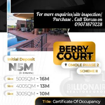 Berry Court, Omole Phase 2, Ojodu, Lagos, Residential Land for Sale