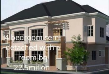 Luxury 4 Bedroom Plus Bq Semi Detached Carcass, Opposite Kubwa Federal Housing Bridge, Karsana, Abuja, Semi-detached Duplex for Sale