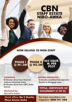 Cbn Staff Estate, Awka, Anambra, Residential Land for Sale