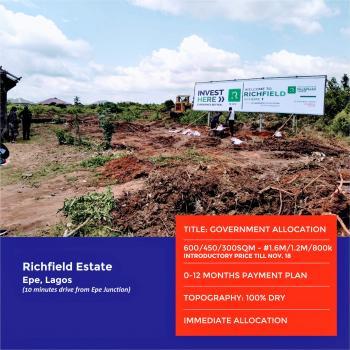 Land, Richfield Estate, Odo Egiri, Epe, Lagos, Residential Land for Sale