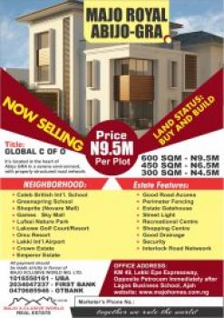 Estate Land with C of O, Beside Chalcedony School Abijo Gra About 5 Minutes From Lekki-epe Expressway, Abijo, Lekki, Lagos, Residential Land for Sale