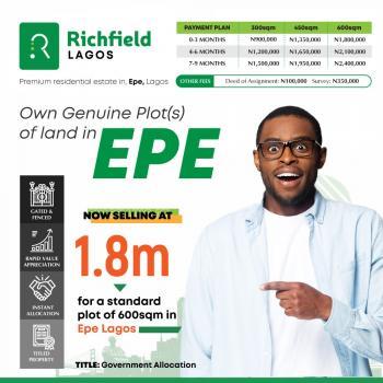 Richfield Estate, Epe, Odo Egiri, Epe, Lagos, Residential Land for Sale