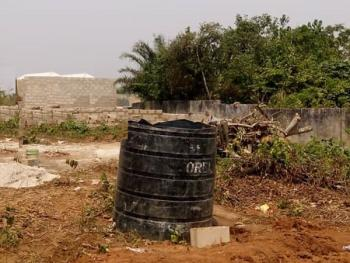a 334sqm Land with 2 Mini Flats Foundation, Gberigbe, Ikorodu, Lagos, Residential Land for Sale