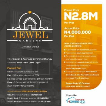 Jewel Gardens, Within a Developed Environment, Instant Allocation, Eleko, Ibeju Lekki, Lagos, Mixed-use Land for Sale