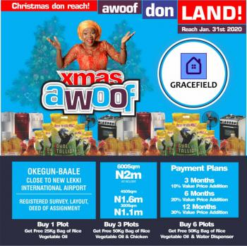 Hottest Plots with Amazing Title, Gracefield Estate, Okegun-baale, Facing The Express By The New Lekki Intll Airport Junction, Ibeju Lekki, Lagos, Land for Sale