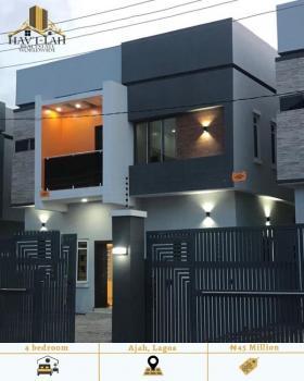 Spacious 4 Bedroom Detached Duplex with 1 Bq, Ajah, Lagos, Detached Duplex for Sale