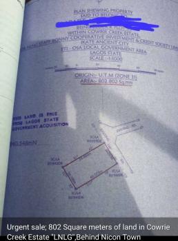 800 Square Meters, Cowrie Creek Estate Spar Road Ikate Lekki, Ikate Elegushi, Lekki, Lagos, Residential Land for Sale