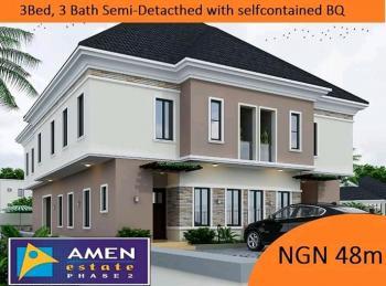 Luxury  3 Bedrooms, 3 Baths Semi-detached with Self-contain  Bq, Eleko, Ibeju Lekki, Lagos, Semi-detached Duplex for Sale