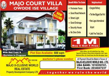 Estate Land, Close to Proposed Airport,pan Atlantic University,re Finery, Eleranigbe, Ibeju Lekki, Lagos, Residential Land for Sale