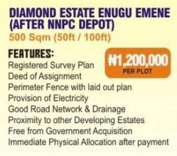 Estate Land, After Nnpc Depot, Emene, Enugu, Enugu, Residential Land for Sale