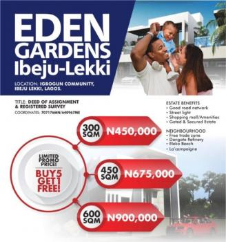 Estate Land, Close to The Road a Few Minutes After La Campagne Tropicana Beach Resort, Ibeju Lekki, Lagos, Residential Land for Sale