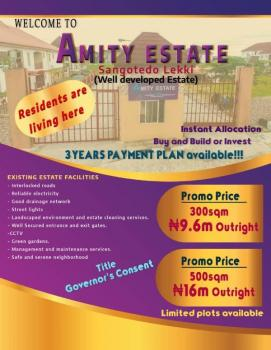 Amity Estate with a Perfect Title/document Governor's Consent, Instant Allocation, Buy and Build, Sangotedo, Ajah, Lagos, Residential Land for Sale
