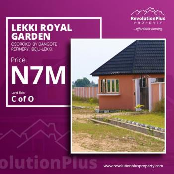 Estate Land C of 0, It Is About 2 Minutes' Drive From The Dangote Refinery and Just a Minute Walk to The Major Road., Eleko, Ibeju Lekki, Lagos, Residential Land for Sale