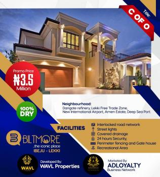 Estate Land C of O, Close to Pan Atlantic University and Proposed Airport, Eleko, Ibeju Lekki, Lagos, Residential Land for Sale