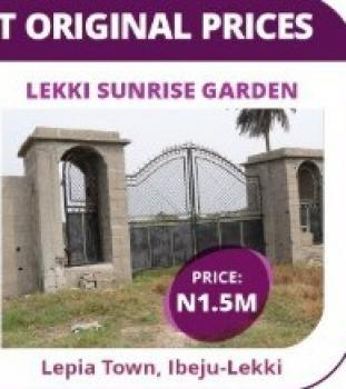 Estate Land, Along The Major Road Leading to Lacampaigne Tropicana Resort and 5 Mins Drive From Dangote Refinery, Eleko, Ibeju Lekki, Lagos, Residential Land for Sale