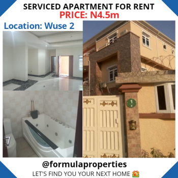 Fully Serviced Apartment, Wuse 2, Abuja, Flat for Rent