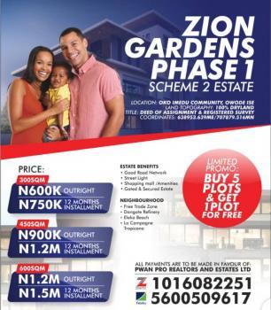 Estate Land, Around La Campagne Tropicana Resort Near Free Trade Zone, Ibeju Lekki, Lagos, Residential Land for Sale