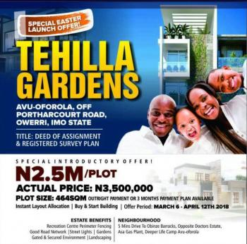 Estate Land, 5 Minutes Drive to Obinze Barracks Opposite Doctors Estate Asa Gas Plant Deeper Life Camp Avu-oforola, New Owerri, Owerri, Imo, Residential Land for Sale