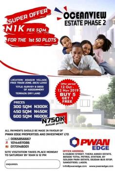 Oceanview Estate, Asegun, Ibeju Lekki, Lagos, Mixed-use Land for Sale