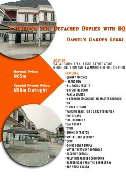 Daniels Garden Lekki, Osapa London, Lekki, Osapa, Lekki, Lagos, Semi-detached Duplex for Sale