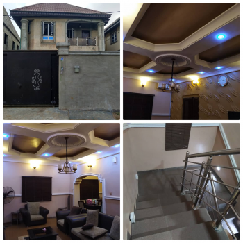 4 Duplex with 2 Unit of 2 Bedroom Flat, Isolo, Lagos, Detached Duplex for Sale