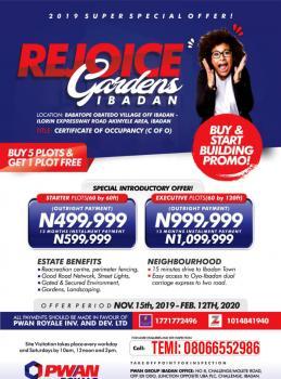 Estate Land  (rejoice Gardens Estate), Ibadan-ilorin Expressway Road, Akinyele, Oyo, Mixed-use Land for Sale