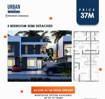 3 Bedroom Semi Detached, Abraham Adesanya Estate, Ajah, Lagos, Semi-detached Duplex for Sale