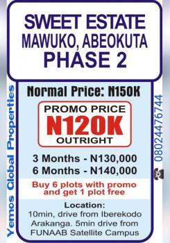 Sweet Estate Phase 2, Mawuko After Iberekodo, Abeokuta North, Ogun, Residential Land for Sale