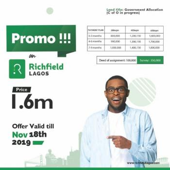 Richfield Estate, Few Minutes From Epe General Hospital, Epe, Lagos, Residential Land for Sale