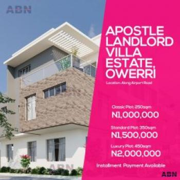 Estate Land, : Along Airport Road Close to Sam Mbakwe Airport, Owerri, Imo, Residential Land for Sale