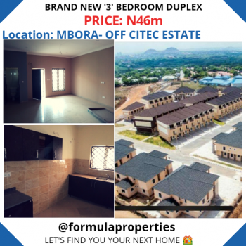 a Superbly Finished House in an a Lovely Estate Environment, Off Citec Estate, Mbora, Abuja, Terraced Duplex for Sale