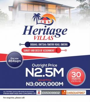Estate Land, Facing Onitsha Owerri Road, Owerri, Imo, Residential Land for Sale