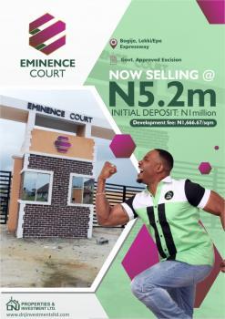 Land for Sale in Bogije, Lekki Lagos, Opposite Beechwood Estate 30minute Away From Chevron, Bogije, Ibeju Lekki, Lagos, Residential Land for Sale