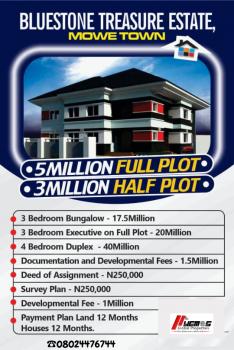 3 Bedroom Bungalow, Blue Stone Estate, Mowe Ofada, Ogun, Detached Bungalow for Sale