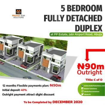 5 Bedrooms Fully Detached Duplex with Bq, Airport Road, Jabi, Abuja, Detached Duplex for Sale