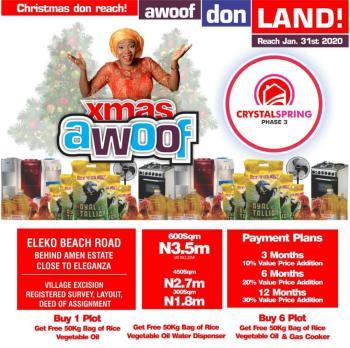 Land for Sale:verified & Secured, Eleko, Ibeju Lekki, Lagos, Residential Land for Sale
