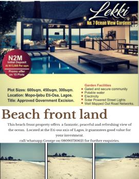 Beach Front Land, Abraham Adesanya Estate, Ajah, Lagos, Residential Land for Sale