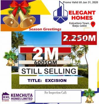 Estate Land Approved Excision, Close to Pan Atlantic University.before Lekii Free Trade Zone, Refinery, Eleko, Ibeju Lekki, Lagos, Residential Land for Sale