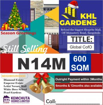 Estate Land, Khl Gardens Estate Is Located Behind The Biggest Shoprite, Sangotedo, Ajah, Lagos, Residential Land for Sale