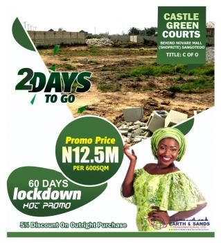 60 Days Lock Down Promo., Castle Green Courts Estate, Behind Shoprite/ Novare Mall., Sangotedo, Ajah, Lagos, Mixed-use Land for Sale