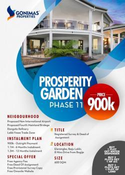 Estate Land, Close to Proposed Airport, Pan Atlantic University, Dangote Refinery, Eleko, Ibeju Lekki, Lagos, Residential Land for Sale