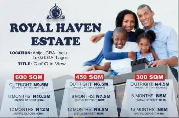 Estate Land for Sale in Ajah Lagos, Abijo Gra 4 Minute Away From Shoprite, Sangotedo, Ajah, Lagos, Residential Land for Sale