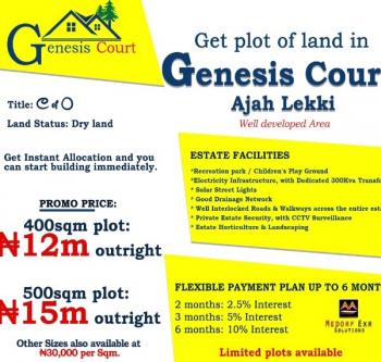 Estate Land with C of O, Ajah Town, Ajah, Lagos, Residential Land for Sale