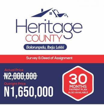 Estate Land, Near Ibeju International Airport, Ibeju Lekki, Lagos, Residential Land for Sale