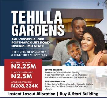Estate Land, Avu Oforola Off Portharcourt Owerri Road, Owerri, Imo, Residential Land for Sale