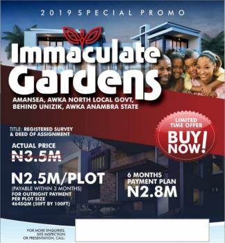 Over 200 Plots of Land, Behind Unizik Permanent Site, Awka, Anambra, Residential Land for Sale