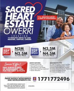 Land Near Airport, Airport Road Near Major Town, Owerri, Imo, Residential Land for Sale
